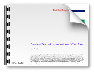 Structural Economic Issues and Your 5-Year Plan