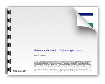 Economic Growth in a Deleveraging World
