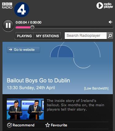 BBC Radio 4: Bailout Boys Go to Dublin
