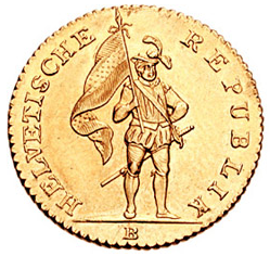 16 Franken, Helvetic republic, 1800, Gold