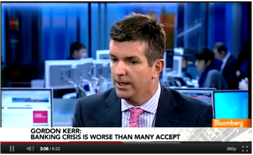 Via Bloomberg: Kerr says euro woes may prompt return of gold standard