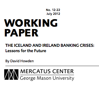 The Iceland and Ireland banking crisis: lessons for the future