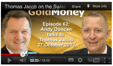 Thomas Jacob on the Swiss Gold Franc Association