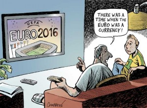 A Time When Euro was a Currency cartoon