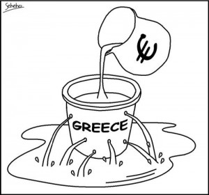 Greek Bailout is a Sieve cartoon