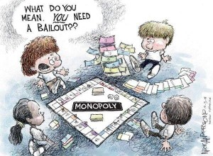 Monopoly Game Bailout cartoon