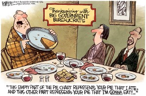 Big Goverrnment Bureaucrats Thanksgiving cartoon