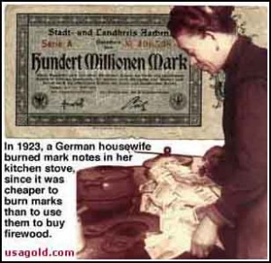 Burning German Marks