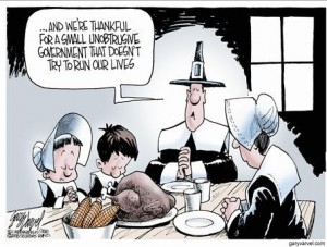 Small Government Thanks Thanksgiving Cartoon