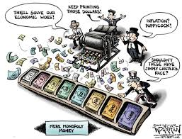 Paper Money Monopoly Game cartoon