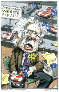 Sanders one-size-fits-all shoes cartoon