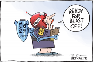 Yellen and Rate Hike cartoon