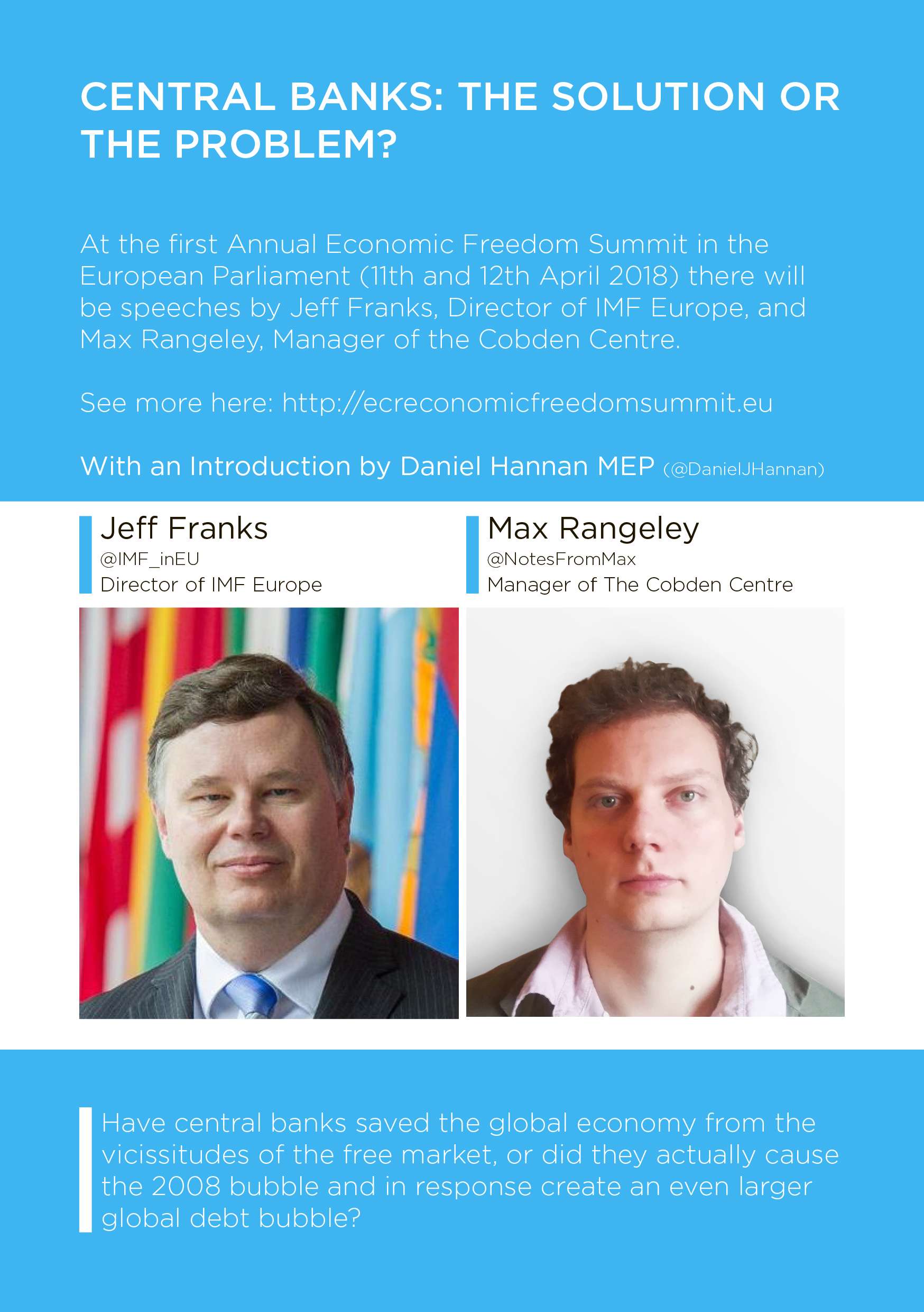 Max debates with Director of IMF Europe on Monetary System