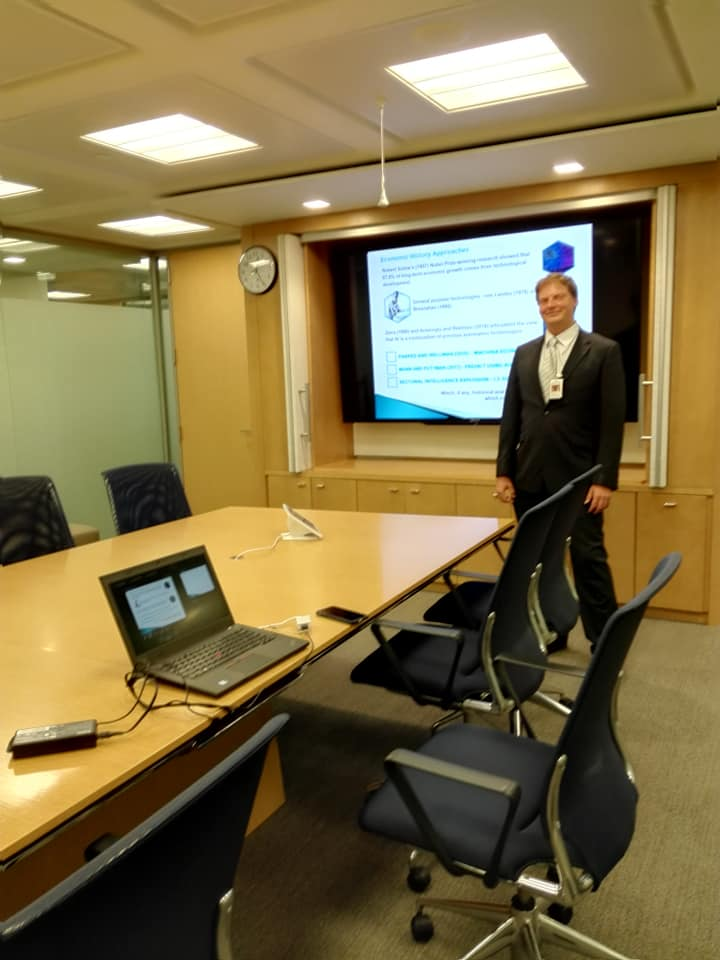 Artificial Intelligence Speech at AAAI, Presentation at IMF, Meeting at World Bank